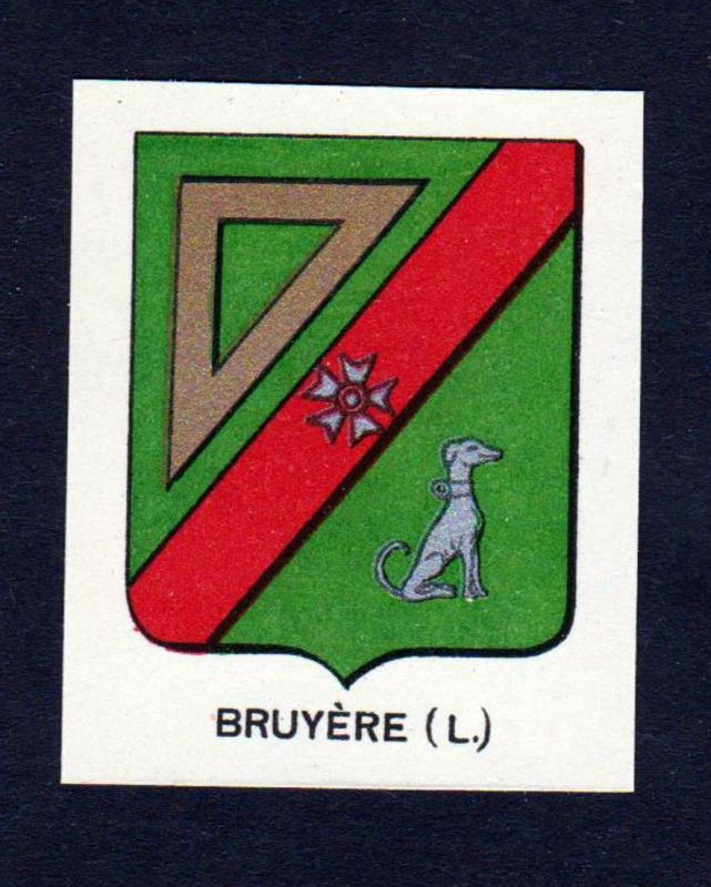 Bruyere (L.) - Bruyere Wappen Adel coat of arms heraldry Lithographie antique print blason