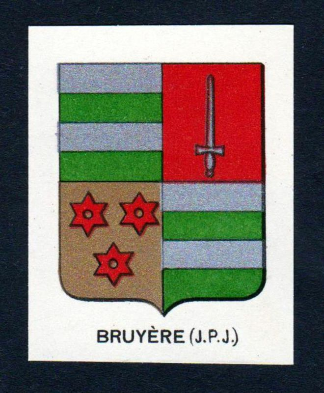 Bruyere (J. P. J.) - Bruyere Wappen Adel coat of arms heraldry Lithographie antique print blason