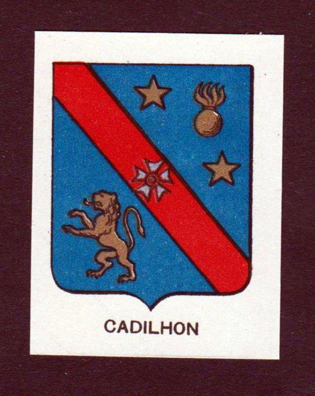 Cadilhon - Cadilhon Wappen Adel coat of arms heraldry Lithographie antique print blason