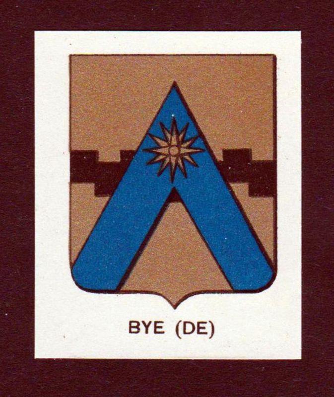 Bye (DE) - Bye Debye Wappen Adel coat of arms heraldry Lithographie antique print blason