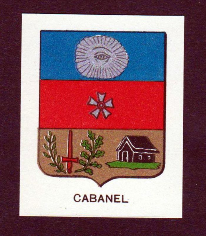 Cabanel - Cabanel Wappen Adel coat of arms heraldry Lithographie antique print blason