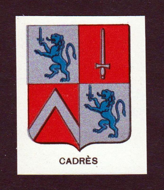 Cadres - Cadres Wappen Adel coat of arms heraldry Lithographie antique print blason