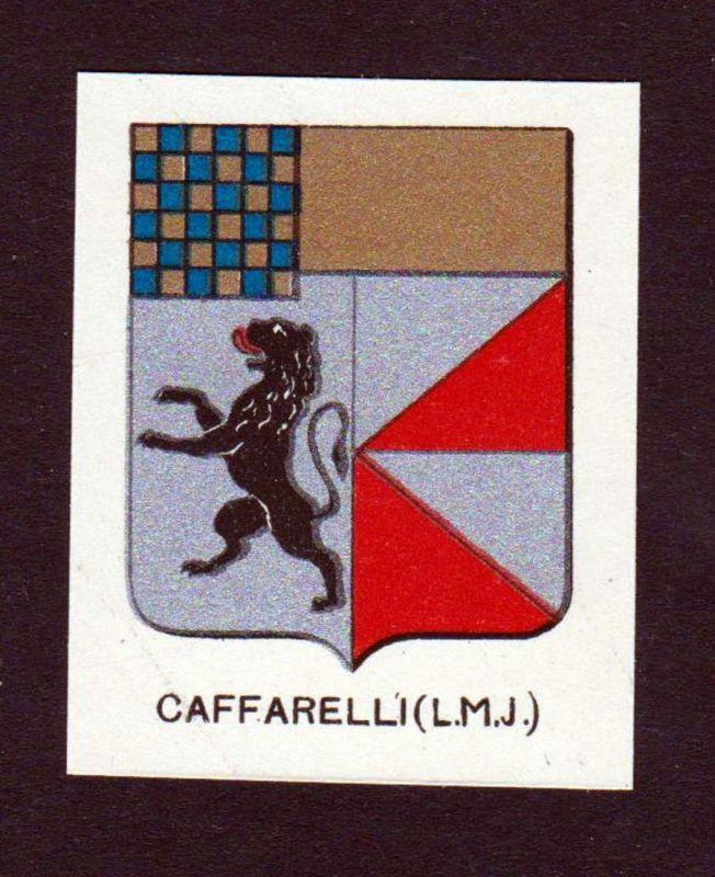Caffarelli (L. M. J.) - Caffarelli Wappen Adel coat of arms heraldry Lithographie antique print blason