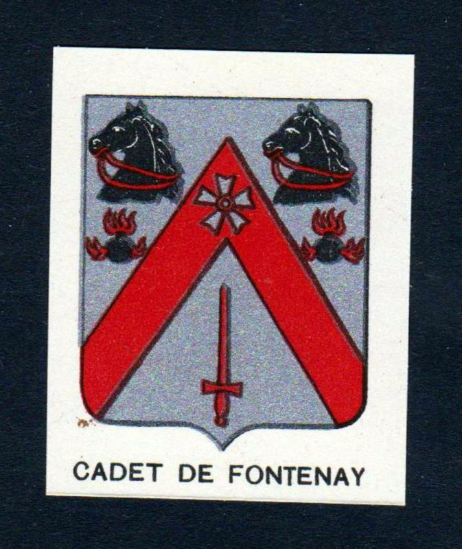 Cadet de Fontenay - Cadet de Fontenay Wappen Adel coat of arms heraldry Lithographie antique print blason