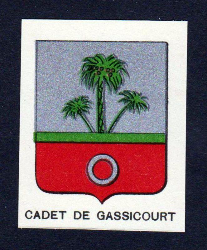 Cadet de Gassicourt - Cadet de Gassicourt Wappen Adel coat of arms heraldry Lithographie antique print blason