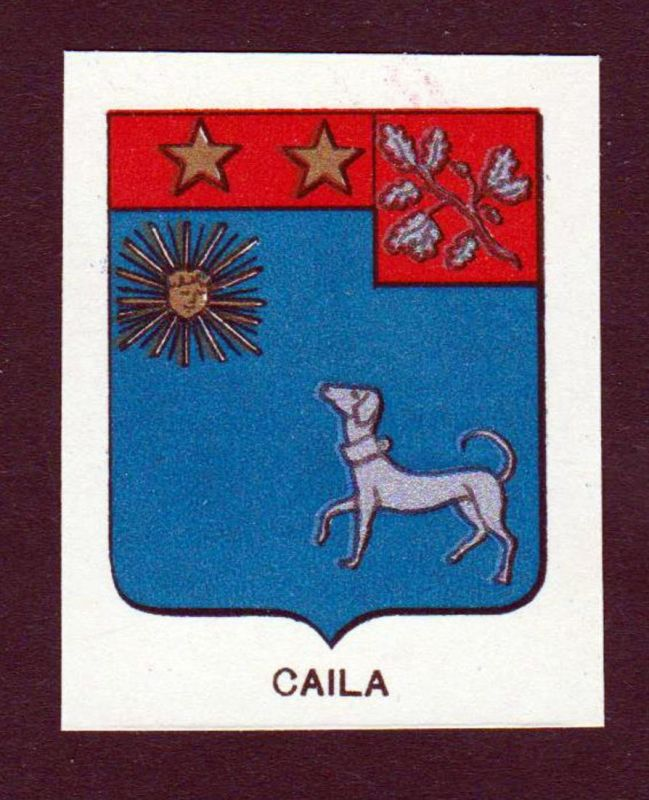 Caila - Caila Wappen Adel coat of arms heraldry Lithographie antique print blason