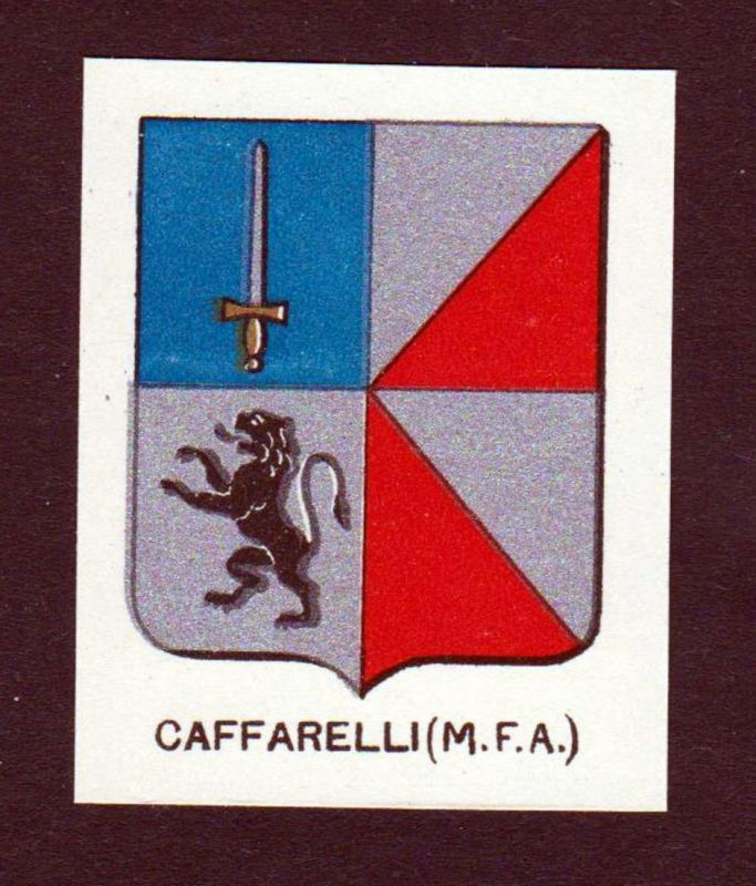Caffarelli (M. F. A.) - Caffarelli Wappen Adel coat of arms heraldry Lithographie antique print blason
