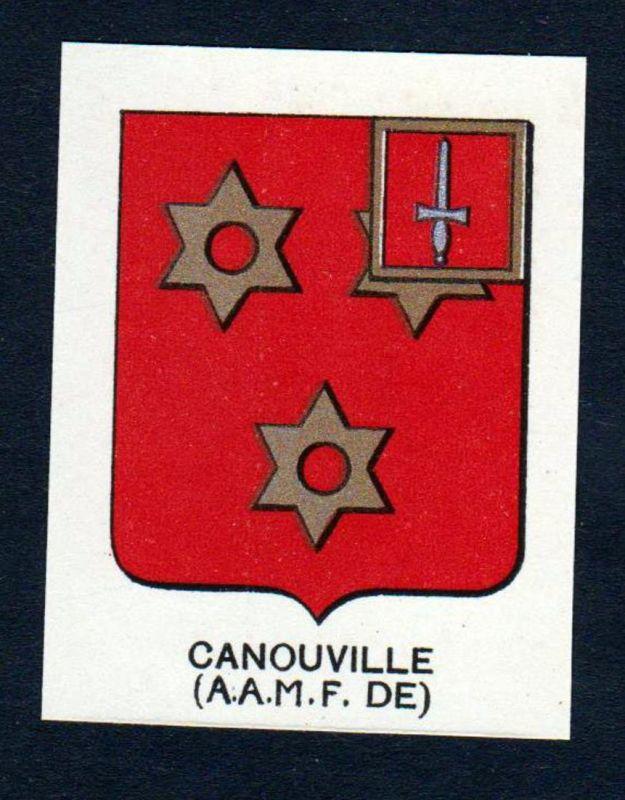 Canouville (A. A. M. F. DE) - Canouville Wappen Adel coat of arms heraldry Lithographie antique print blason