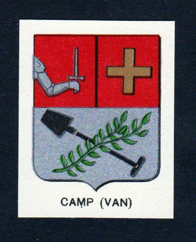 Camp (Van) - Camp Wappen Adel coat of arms heraldry Lithographie antique print blason