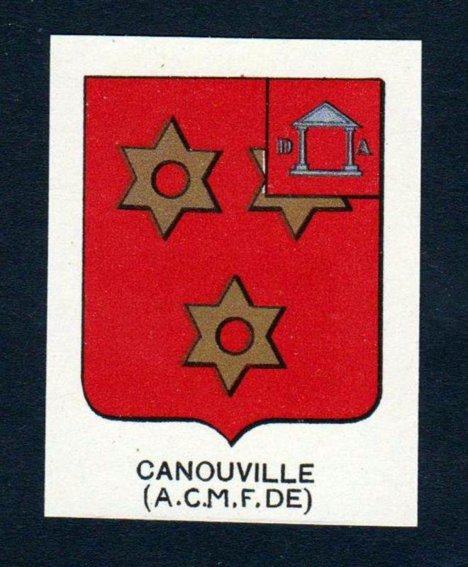 Canouville (A. C. M. F. DE) - Canouville Wappen Adel coat of arms heraldry Lithographie antique print blason