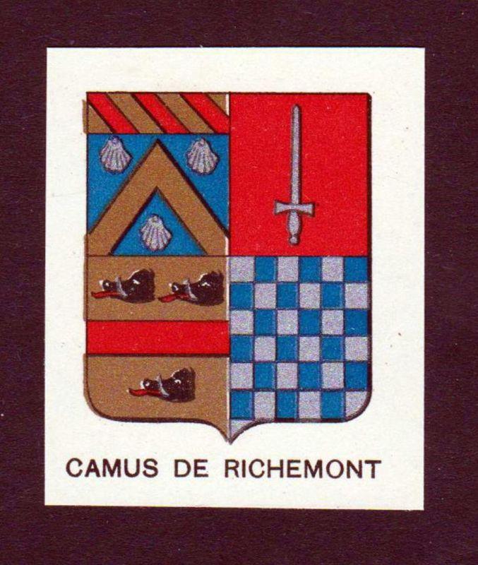 Camus de Richemont - Camus de Richemont Wappen Adel coat of arms heraldry Lithographie antique print blason