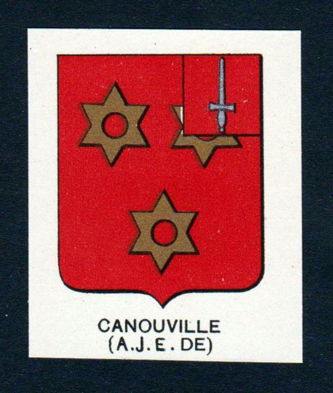 Canouville (A. J. E. DE) - Canouville Wappen Adel coat of arms heraldry Lithographie antique print blason