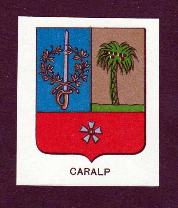 Caralp - Caralp Wappen Adel coat of arms heraldry Lithographie antique print blason