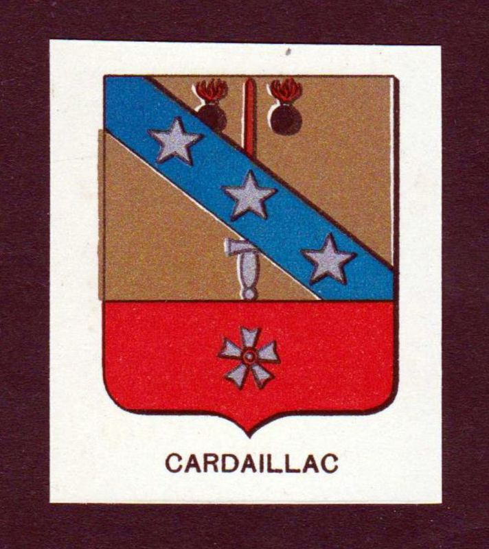 Cardaillac - Cardaillac Wappen Adel coat of arms heraldry Lithographie antique print blason