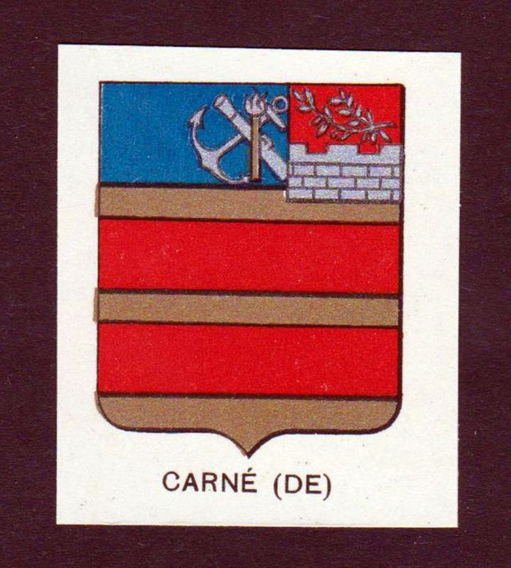 Carne (DE) - Carne Wappen Adel coat of arms heraldry Lithographie antique print blason