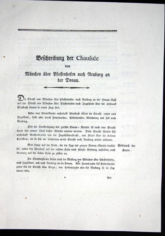 Beschreibung der Chaussee von München über Pfaffenhofen nach Neuburg an der Donau - Beschreibung Textblätter K