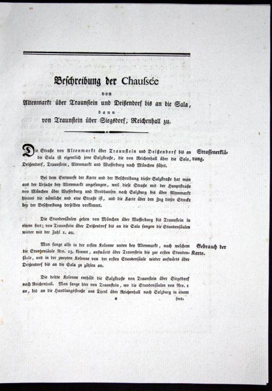 Beschreibung der Chaussee von Altenmarkt über Traunstein und Deißendorf bis an die Sala dann von Traunstein üb