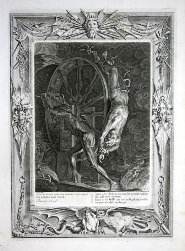 Ixion in der Helle an ein rath fest gemacht welches ohne auff hören umbdrehet - Ixion Hell Hölle Greek Mytholo