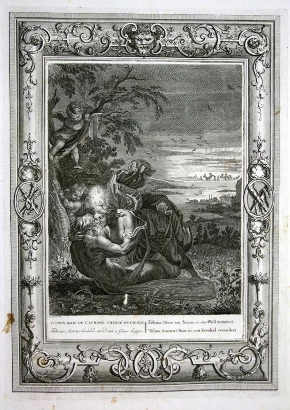 Tithonus Mann von Aurora in eine Grill verändert - Tithonus Aurora grasshopper Grille Greek Tithonos Mythologi