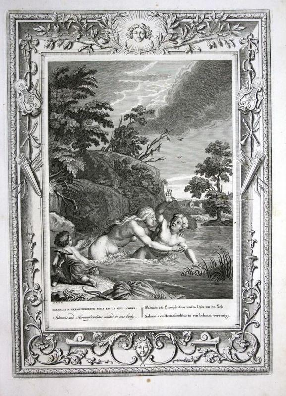 Salmacis und Hermaphroditus werden beyde nur ein Leib - Salmacis Hermaphroditus Greek Mythologie mythology Kup