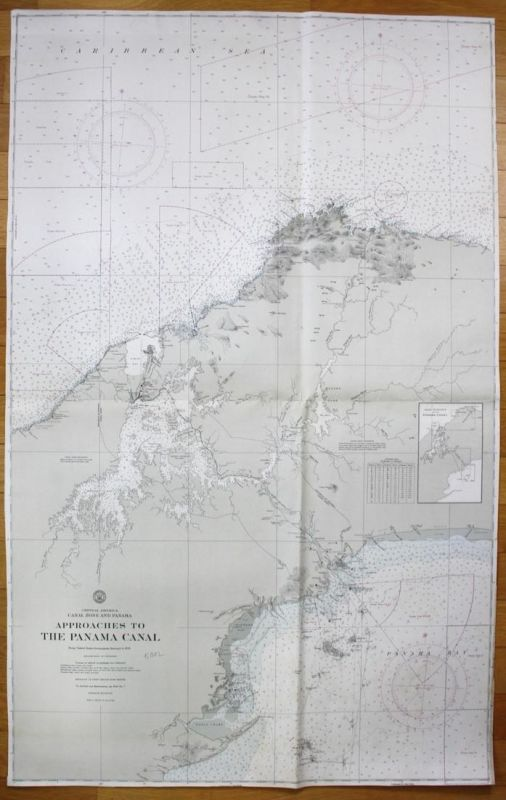 Central America - Canal Zone and Panama - Approaches to the Panama Canal