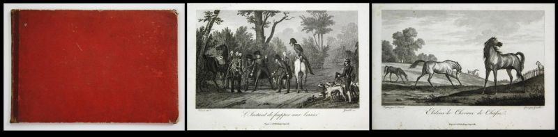 (La chasse à Courre [au cerf].) - Suite of 23 (of 24) engravings with etching.