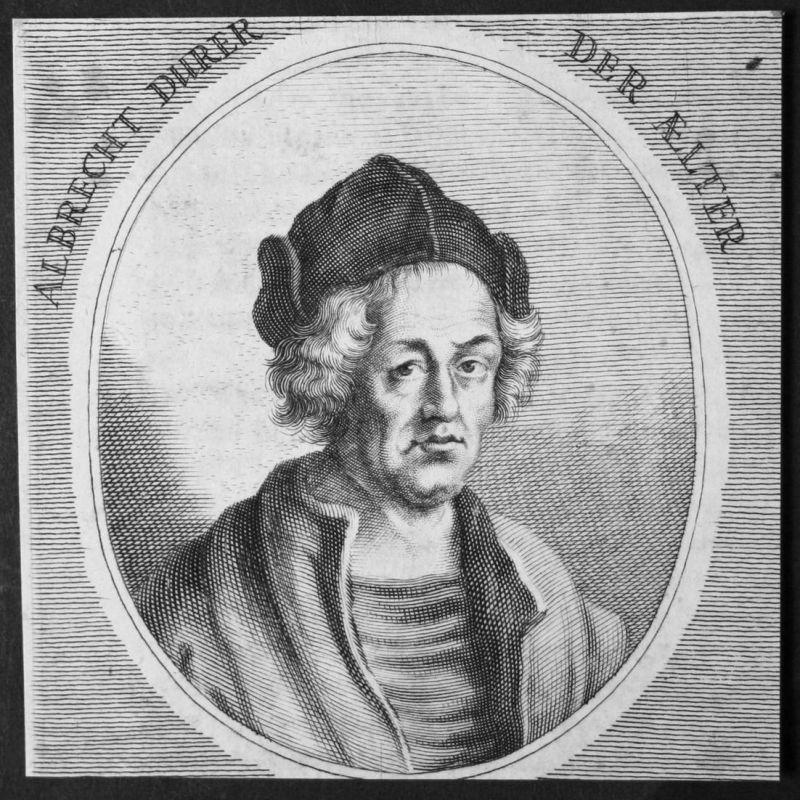 Albrecht Durer der Aelter - Albrecht Dürer der Ältere Goldschmied goldsmith Kupferstich etching Portrait