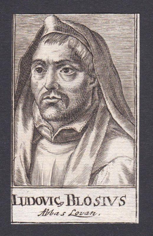 Ludovic. Blosius / Francois Louis de Blois / theologian Theologe Liessies Belgien