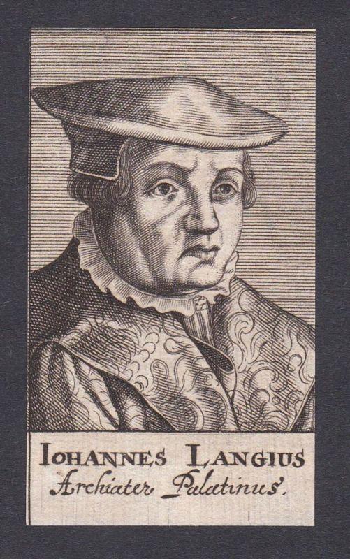 Iohannes Langius / Johannes Lange / doctor Arzt Mediziner Pfalz
