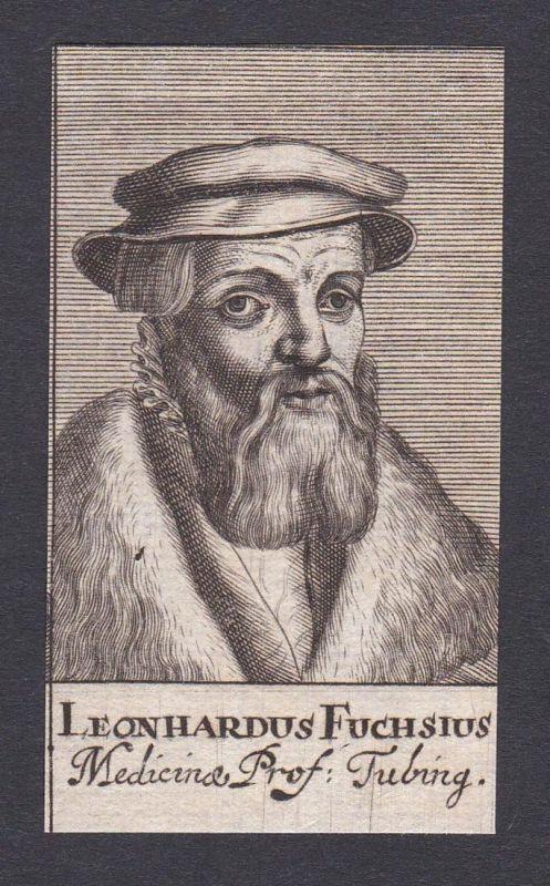 Leonhardus Fuchsius / Leonhart Fuchs / doctor Arzt Mediziner Tübingen