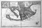 Plan des Rades de Saufa en Catalogne - Punta de la Banya Alfacs Cataluna map carte Karte Hafen harbour port