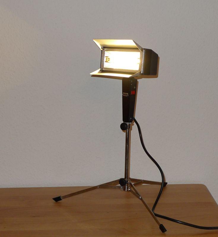 DIY Upcycling LED Film Lampe auf Stativ Vintage Retro Leuchte Stehlampe 2