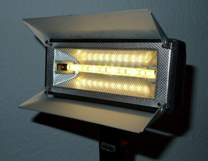 DIY Upcycling LED Film Lampe auf Stativ Vintage Retro Leuchte Stehlampe 3