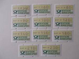Bund ATM Marken Type 2  von 1981 postfrisch
