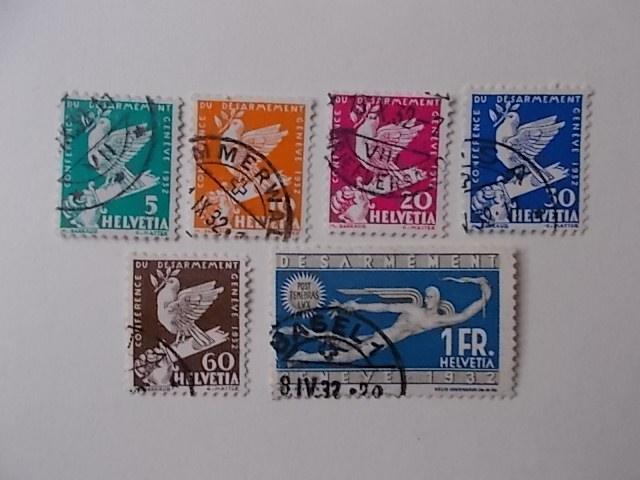 Schweiz Nr 250-55 gestempelt