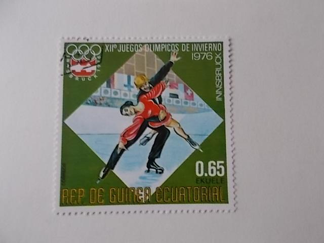 Äquatorial Guinea Olympiade 1976 gestempelt