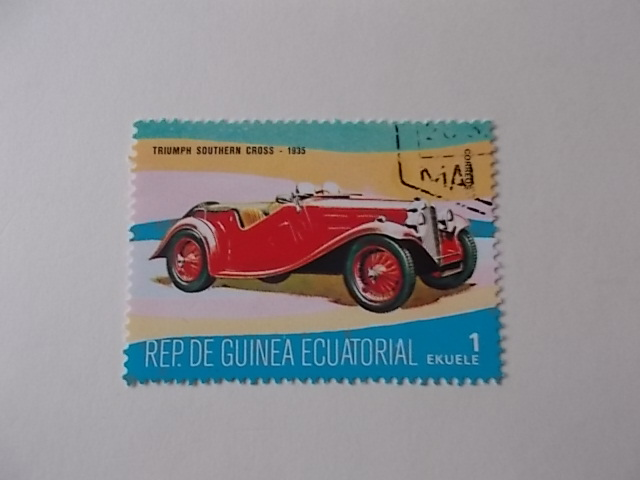 Äquatorial Guinea Oldtimer gestempelt