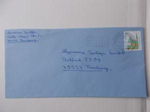 Bund Nr 1534 selbstklebend auf Briefumschlag