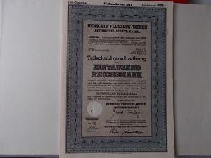 Aktie Henschel Flugzeug-Werke 1000 Reichsmark