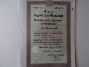 Hypotheken-Pfandbrief Mecklenburgische Hypotheken und Wechselbank