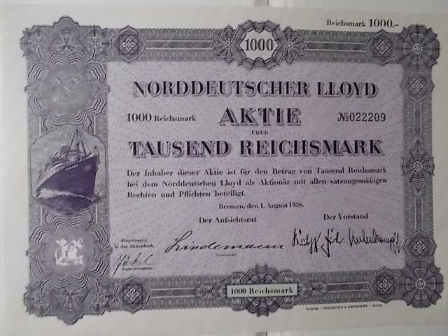 Aktie Norddeutscher LLOYD
