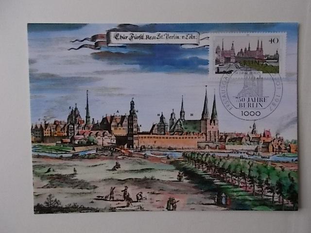Berlin Maximumkarte 750 Jahre Berlin