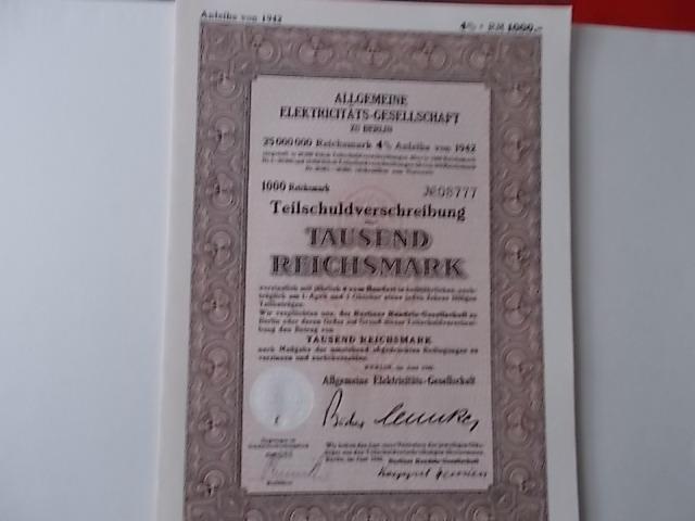 Allgemeine Elektricitäts-Gesellschaft AEG Berlin