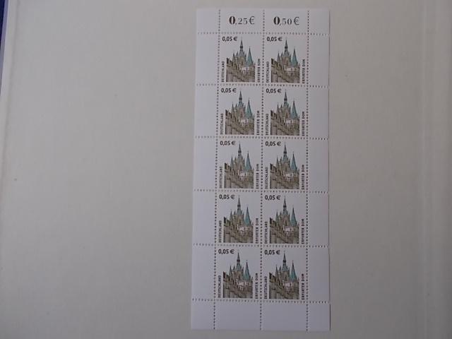 Bund Nr 2381 Kleinbogen mit Plattenfehler