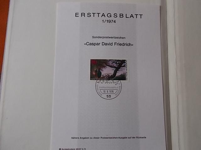 Bund Ersttagsblatt Nr 1/1974