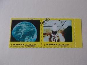 Manama Nr 945 a+b ZD gestempelt