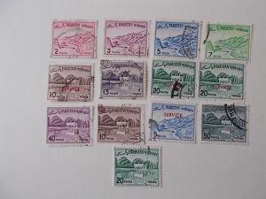 Pakistan Dienstmarken gestempelt