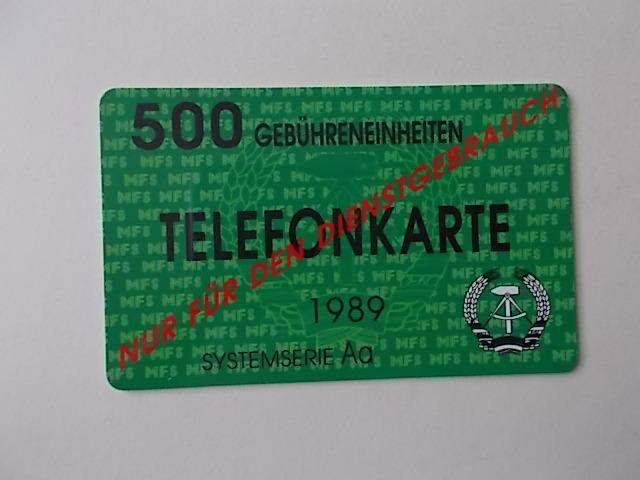 DDR Stasi Telefonkarte von 1989