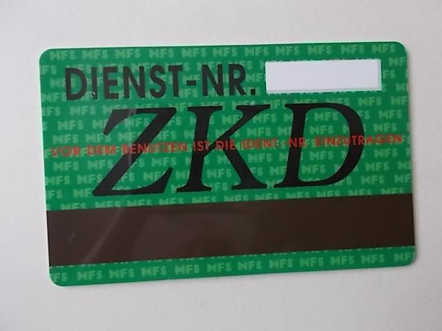 DDR Stasi Telefonkarte von 1989 1