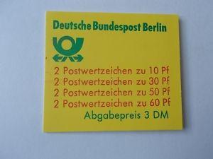 Berlin MH 12 ab postfrisch mit Plattenfehler
